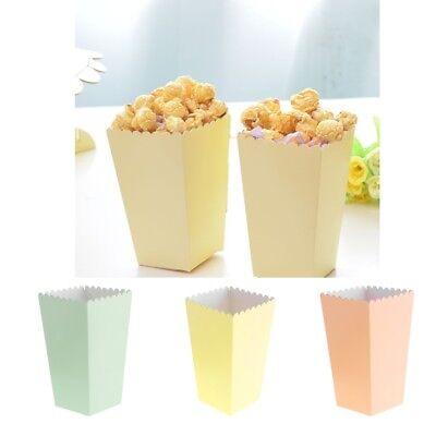 12x Papier Box Tüten Schachtel Tasche mit Punktmuster für Popcorn Snack