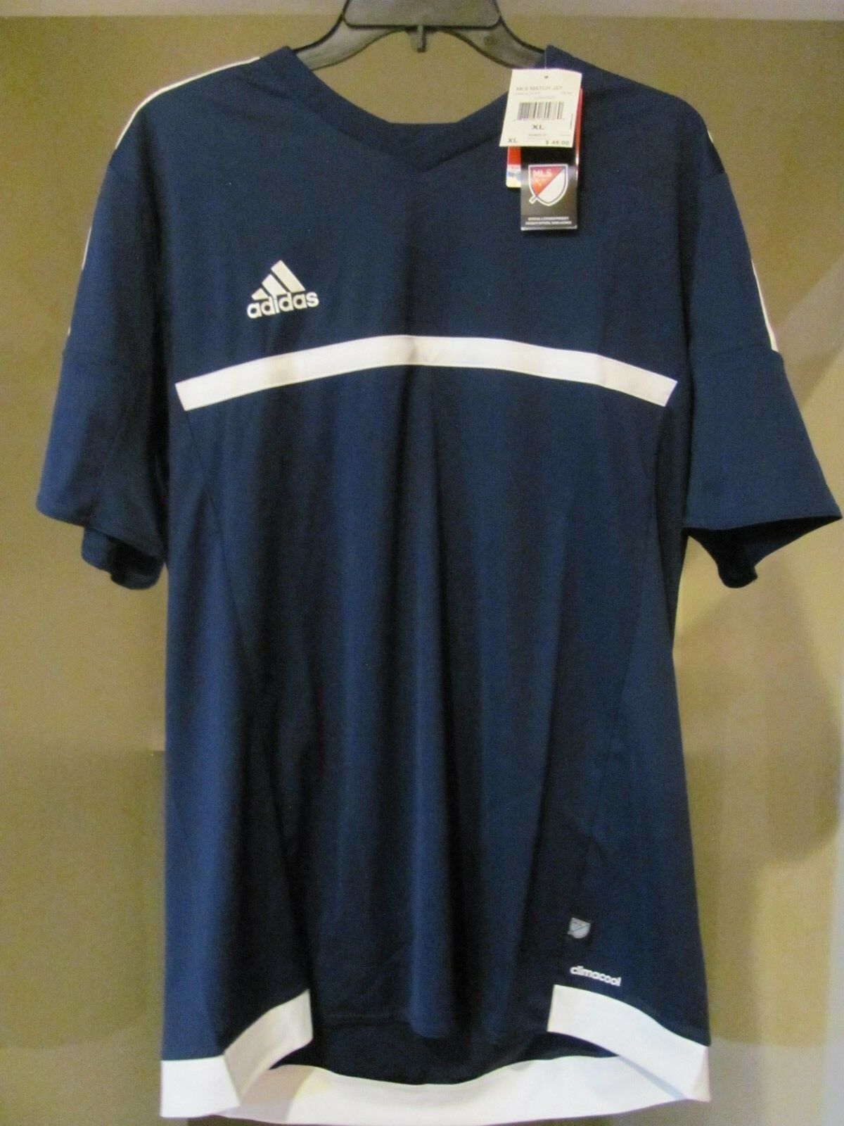 Adidas MLS Match Jersey Soccer Futbol Football Size XL Navy bluee
