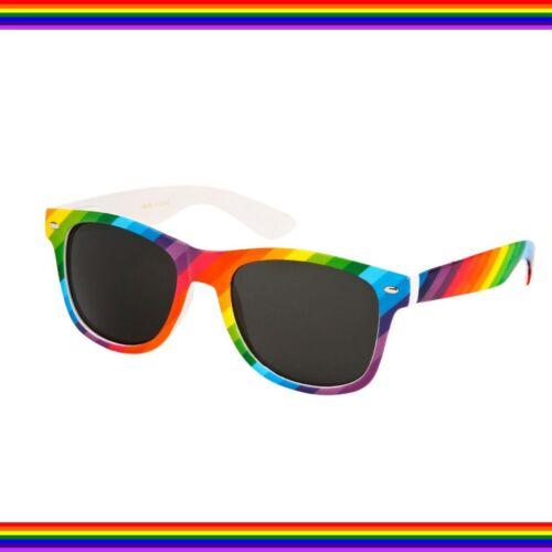 LGBTQ PRIDE PARADE RAINBOW Fancy Dress PARTY CLUB MARCH GLASSES HAT ACCESSORY