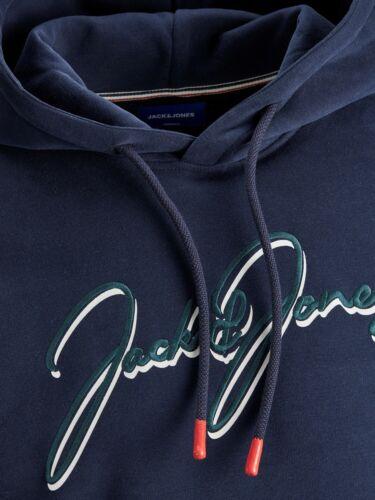 Jack /& Jones Originals Hoodie Front Logo L//S Hooded Sweater Jumper Mens JORDusto