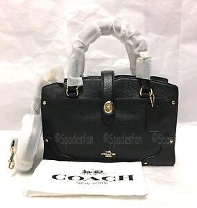Gold Bag Mercer Satchel Leather tweewegsporttas Nwt Grain 37779 24 Black Coach m0Nwv8On