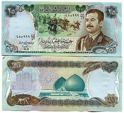 25 Dinars Banknote Xf P73 Paper Money