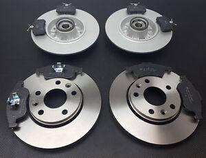 Renault Megane MK3 Coupe Front /& Rear Brake Discs Pads Wheel Bearings ABS Ring