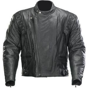 Spada-Road-Leather-Urban-Custom-Retro-Cruiser-Motorbike-Motorcycle-Jacket-Black