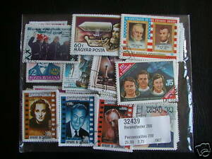 *** Lot Timbres Celebrites : 50 Timbres Tous Differents / Celebrity Stamps **** Les Produits Sont Vendus Sans Limitations