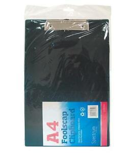 BLACK-SOLID-A4-CLIPBOARD-CLIP-BOARD-Clipboards-with-Pen-Holder-Foolscap