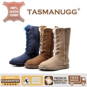 36b2396a292 Details about Tasman UGG-Eskimo Tall UGG lace up boots, Premium Australian  Sheepskin,3 Colours