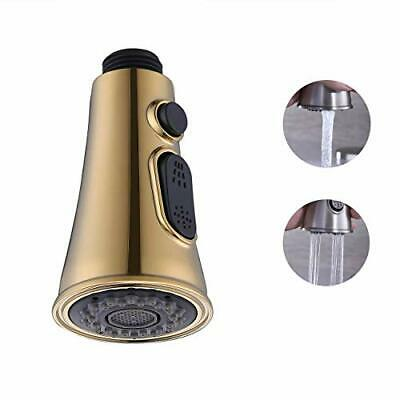 Replacement Pull Out Spray Head For Kitchen Sink Faucet G 1 2 Connections Gold Ebay