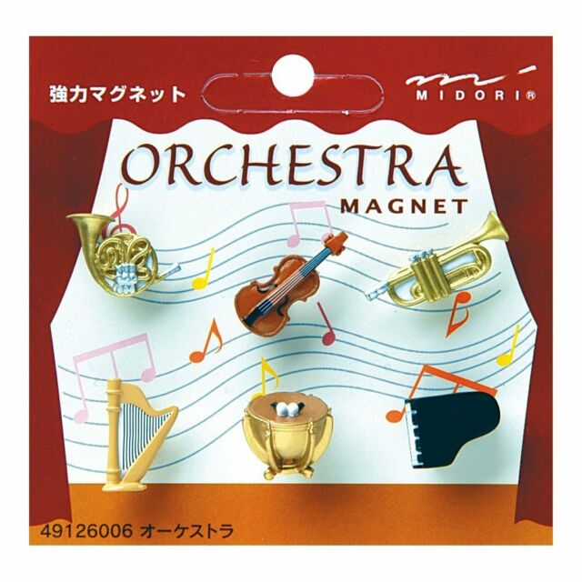 Midori Japanese Mini Magnet Deluxe Set Orchestra Musical Instruments