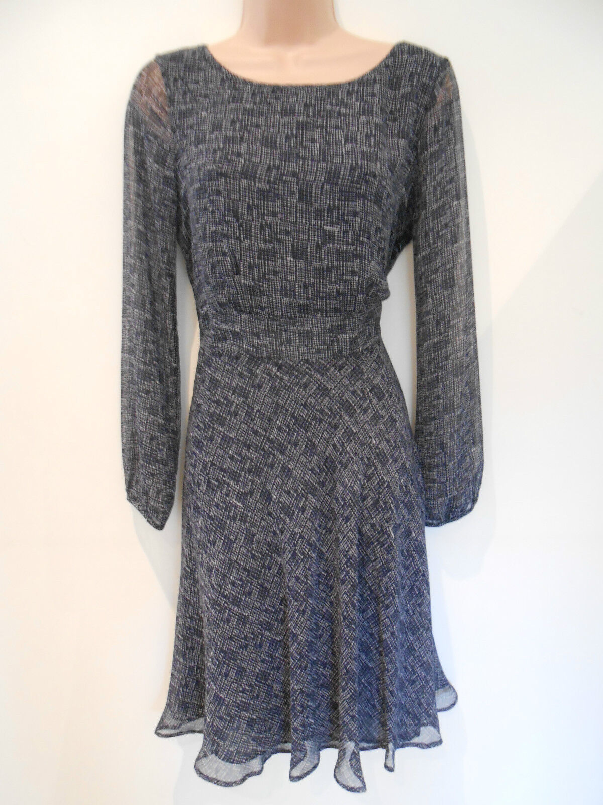 e46010af035f9 M S Collection Mix Sleeve Loose Party Dress (NEW) UK size 8-.00 Navy Long  nsnmjk2476-Dresses