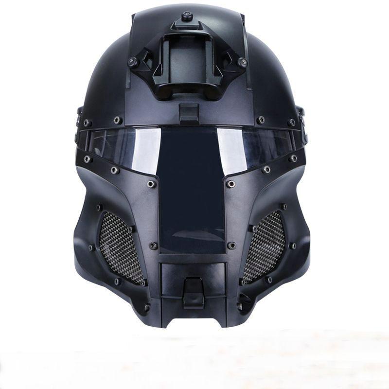 Cosplay Medieval Iron Warrior Motorcycle Helmet Tactical Airsoft Helmet Mask Bla