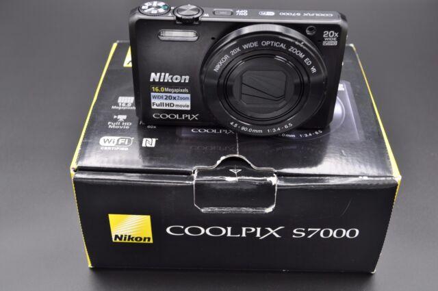 Nikon Coolpix S7000 16MP 7.6cmscreen 20X ZOOM APPAREIL PHOTO NUMÉRIQUE NOIR