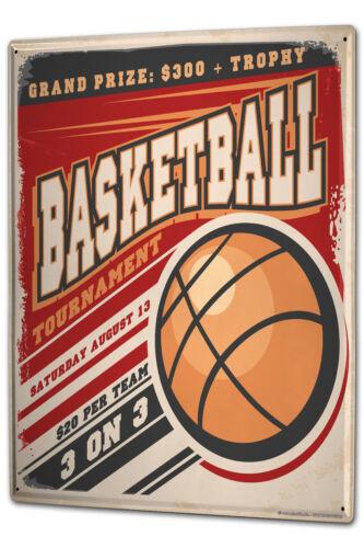 Tin Sign XXL Fun Basketball metal plate plaque
