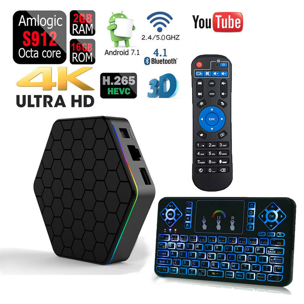 2019 2+16GB T95Z Plus Amlogic S912 Android 7.1 Octa Core Smart TV BOX US STOCK