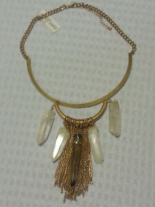 NWT-All-039-asta-Antique-Gold-Crystal-Choker-Necklace