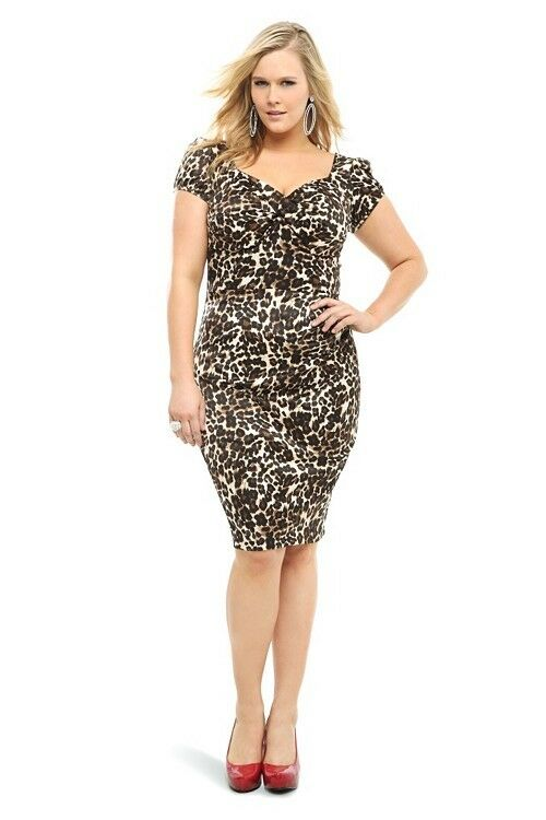 Stop Staring Billion Dollar Baby Dress 22 Plus Leopard Wiggle Pencil Sexy