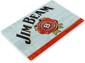 TIN-SIGN-Jim-Beam-Bourbon-Whiskey-Metal-Decor-Art-Store-Pub-Bar-A454
