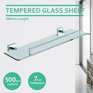 Terrific Details About New 500Mm Single Square Glass Shelf Vanity 304 Stainless Steel Bathroom Shower Download Free Architecture Designs Scobabritishbridgeorg
