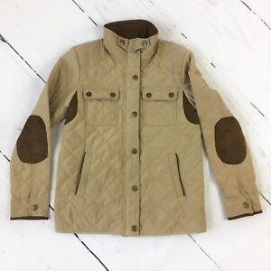 Zara-Fille-Marron-Beige-Matelasse-Manteau-11-12-ans-poches-coudieres