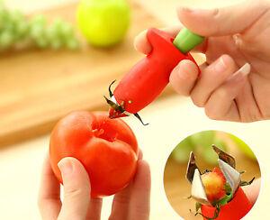 HOT-Strawberry-Berry-Stem-Gem-Leaves-Huller-Remover-Fruit-Corer-Kitchen-Tool-RED