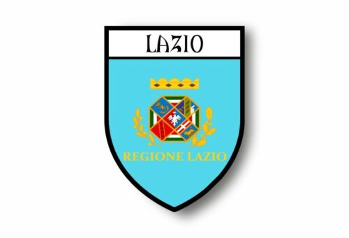 Stickers decal souvenir vinyl car shield city flag world crest italy lazio