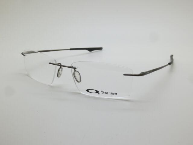 84accb49f08e6 New OAKLEY KEEL OX3122-0753 Pewter Rimless Titanium 53mm Rx Eyeglasses