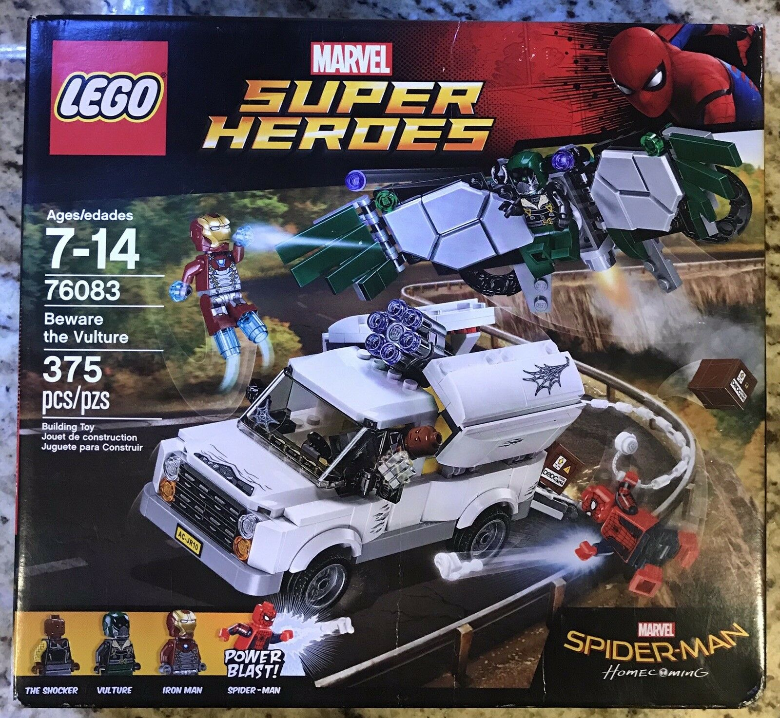NEW LEGO Marvel Super Heroes 76083 Beware The Vulture 375 Pieces- Brand Nuovo Look