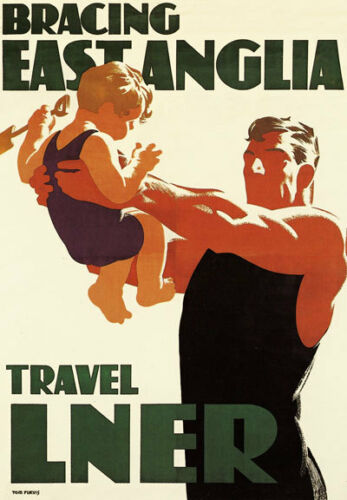 "TS99 Vintage 1930/'s East Anglia LNER Railway Poster Print A3 17/""x12/"""