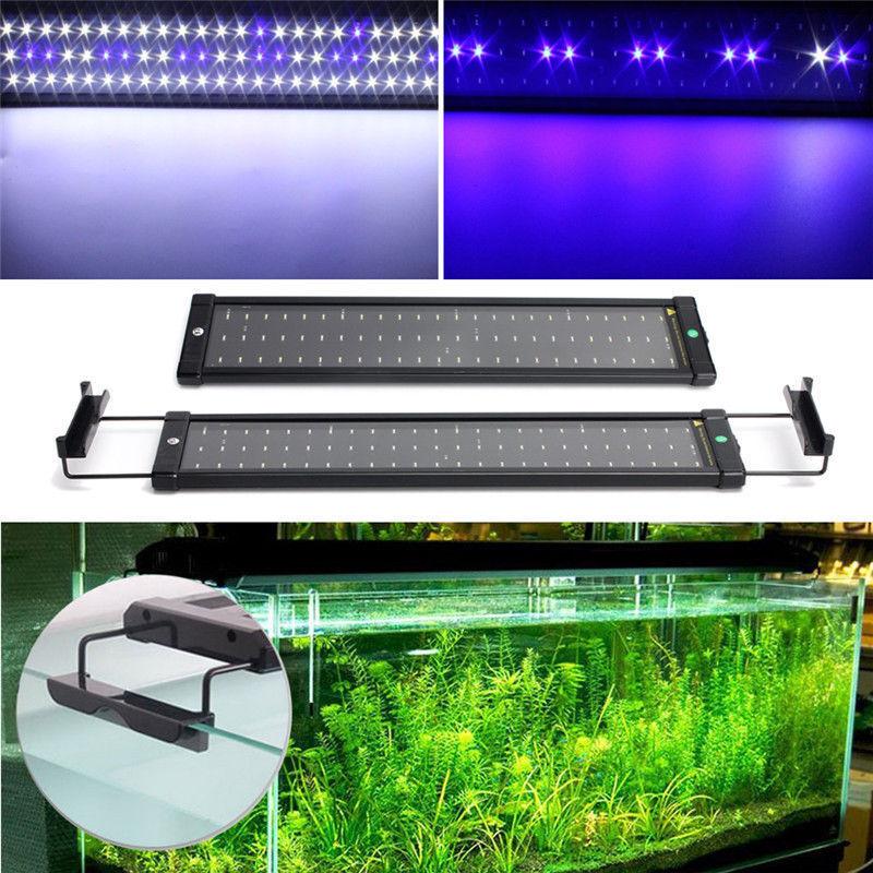 Screen Adjustable Aquarium fish tank 11 W LED Light Strip 72 SMD bluee and White