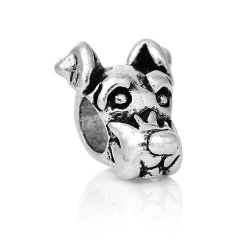 Perro Cachorro Salchicha Regalo encanto grano de plata pulsera Europea encantos pulsera cuentas
