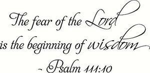 Image is loading Psalm-111-10-11-x-22-Bible-Verse-  sc 1 st  eBay & Psalm 111:10 11 x 22 Bible Verse Wall Decal ~ Scripture Wall Art ...