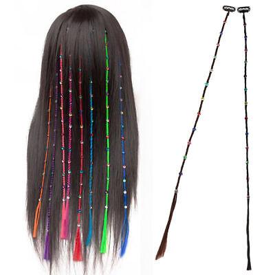 Crystal Diamonds Long Braids Synthetic Clip In On Hair Bands Extensions Piece Verhindern, Dass Haare Vergrau Werden Und Helfen, Den Teint Zu Erhalten