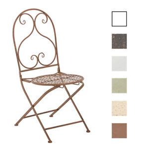Détails sur Chaise de Jardin VAHAN Chaise de Jardin Fer Forgé Table Pliable  Design Antique