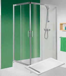 duschkabine duschwanne mit rost flach dusche acryl duschrinne 100 x 80 cm west ebay. Black Bedroom Furniture Sets. Home Design Ideas