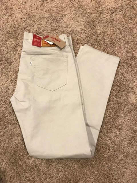 NWT MEN'S LEVI'S 502 REGULAR TAPER FIT STRETCH JEANS MOONSTRUCK MANY SIZES