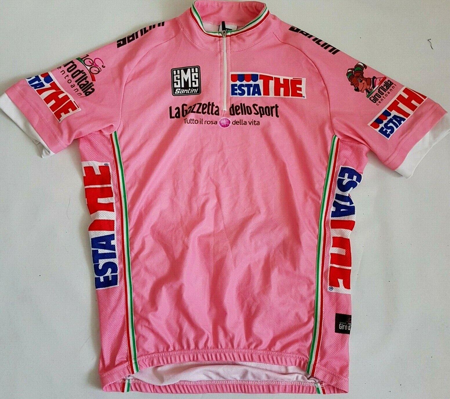GIRO JERSEY CYCLING  SANTINI PINK 100 2009 General Leader Italia SHORT SLEEVE L  low price
