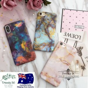 IPhone-6-6s-7-8-Plus-X-Marble-Pattern-Funny-Hard-Fashion-Bling-Case-Cover