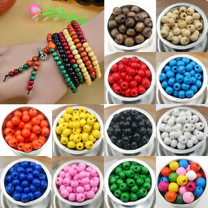 Lots-Fashion-500-1000pc-Round-Natural-Wood-Ball-Spacer-Loose-Beads-4mm-8mm