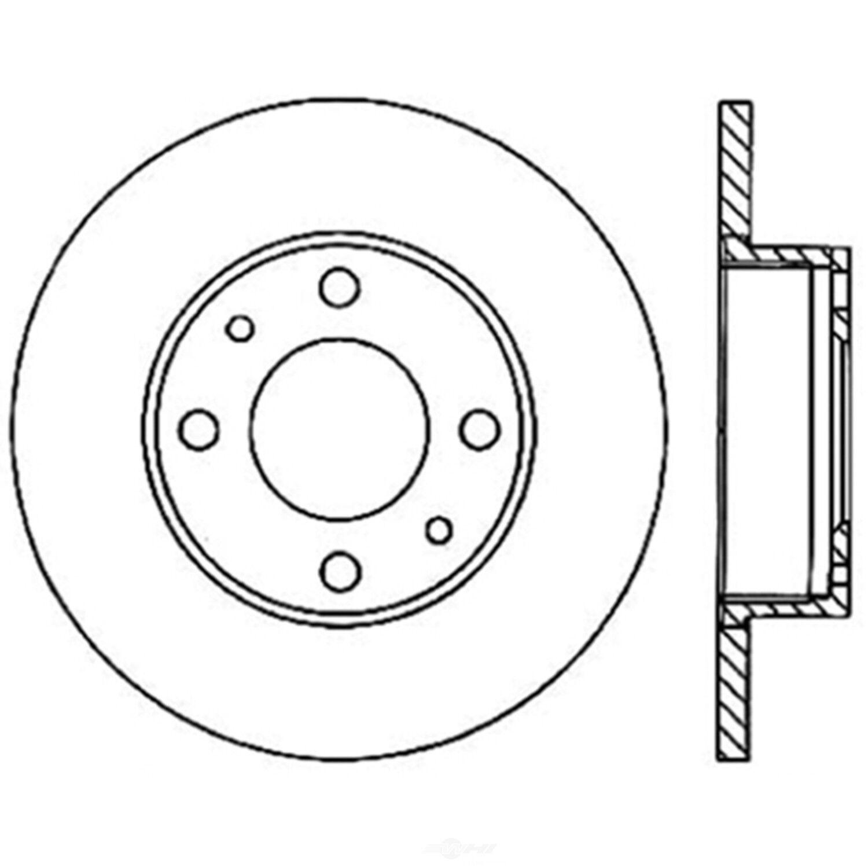 Disc Brake Rotor-C-TEK Standard Preferred Front,Rear Centric 121.04000