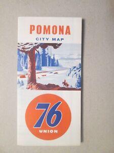 Union 76 Pomona California Map 1960