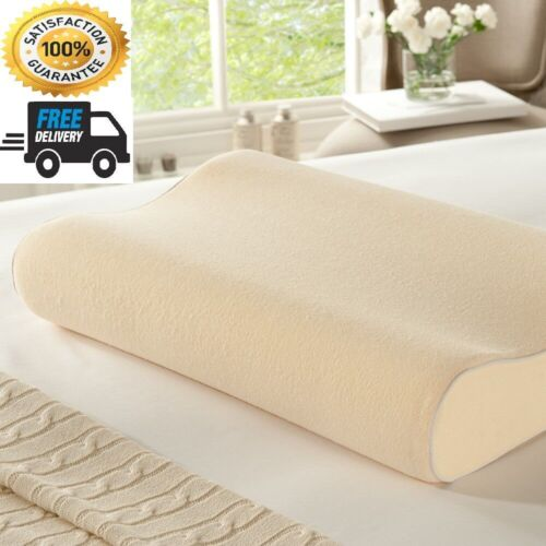 40x60 Orthopaedic Support NEW MEMORY FOAM CONTOUR Pillow With Free Cover 30x50