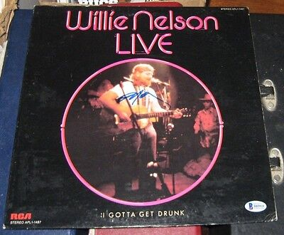 Willie Nelson Country Signed Autographed 1976 Willie Nelson Live Album Bas/coa To Win A High Admiration Entertainment Memorabilia
