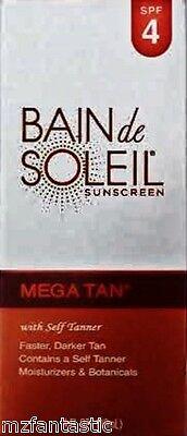 Bain de Soleil Mega Tan Moisturizing Sunscreen With Self-Tanner, 4 oz.