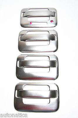 TFP 407KEBR - Brushed Stainless Steel Door Handle Covers | eBay