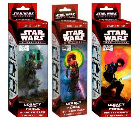 Star wars miniatures miniatures miniatures legacy of the force - 4 sealed boxes 785eef