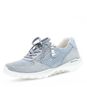 Schuhe Rollingsoft Damen Zu Comfort Schnürschuh Komfort Details Halbschuhe Gabor Hellblau yb76gfYv