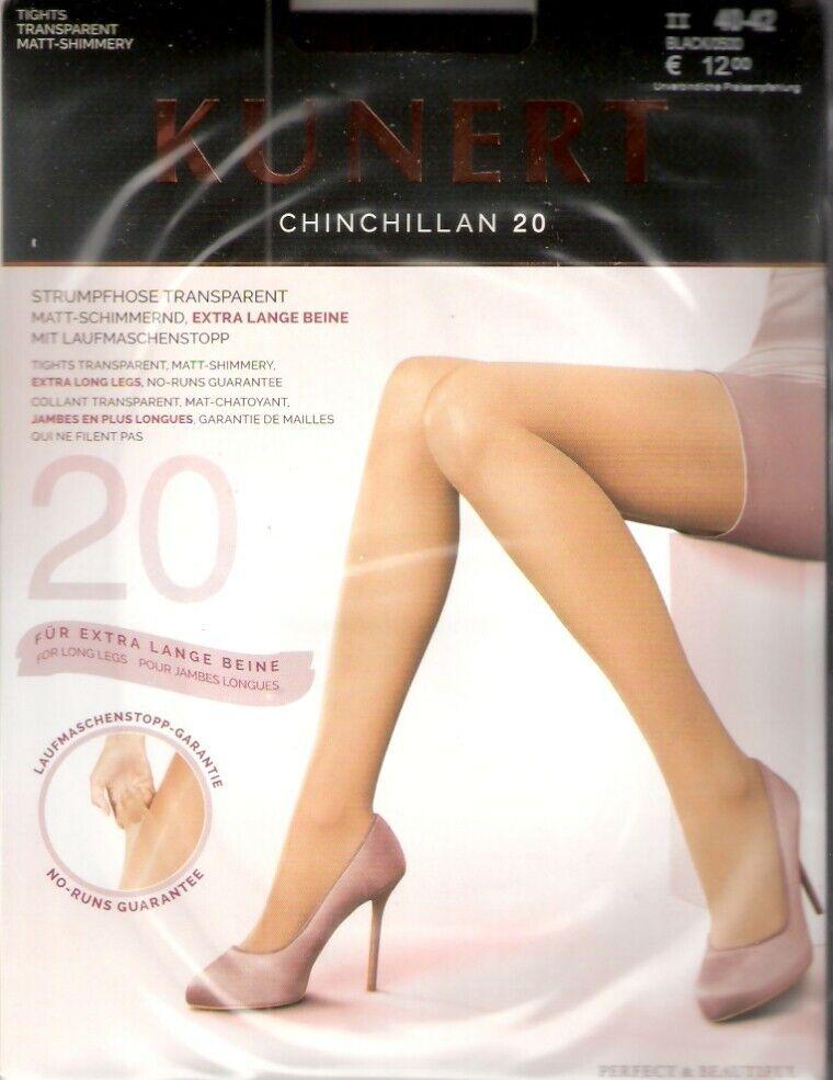 Kunert - CHINCHILLAN 20 extra - Strumpfhose Gr. I - II cashmere, teint, schwarz