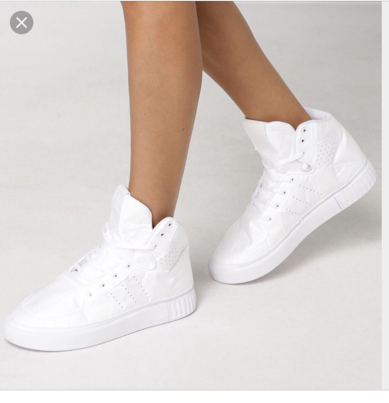 Adidas High Top Sneakers tubular invader 2.0 Decon Originals white women size 7
