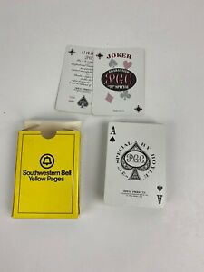 Vintage-Plastic-Playing-Cards-Southwestern-Bell-Yellow-Pages-Hoyle-PGC-POKER