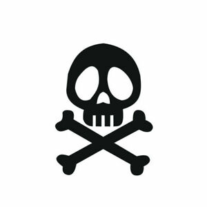 Sticker Tete De Mort Albator Autocollant - Skull - 11cm X 8,5cm